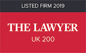 The Lawyer UK 200 Listed Firm logo